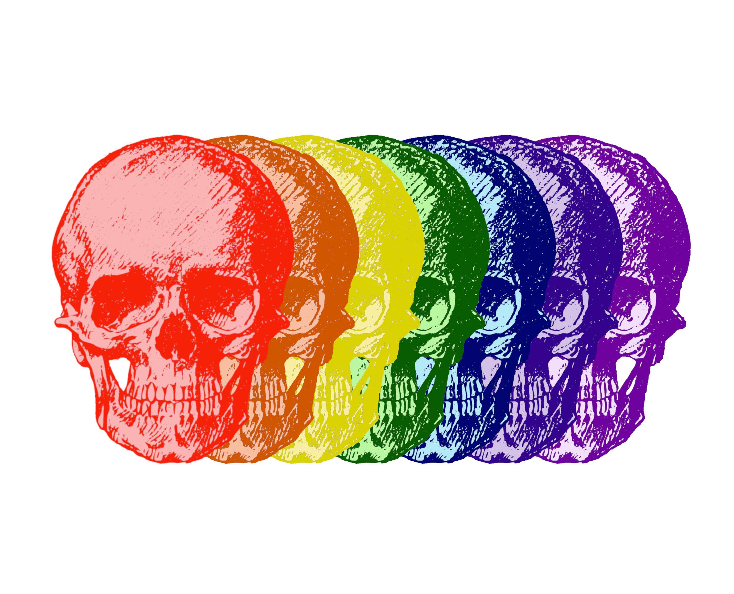 ROYGBIV Skulls
