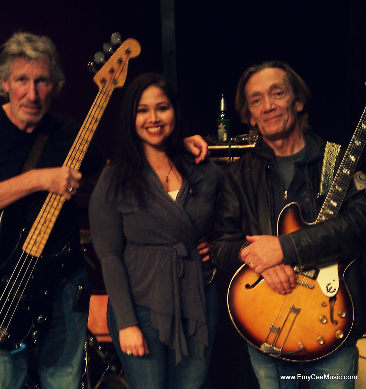 Emy Cee with Roger Waters & GE Smith