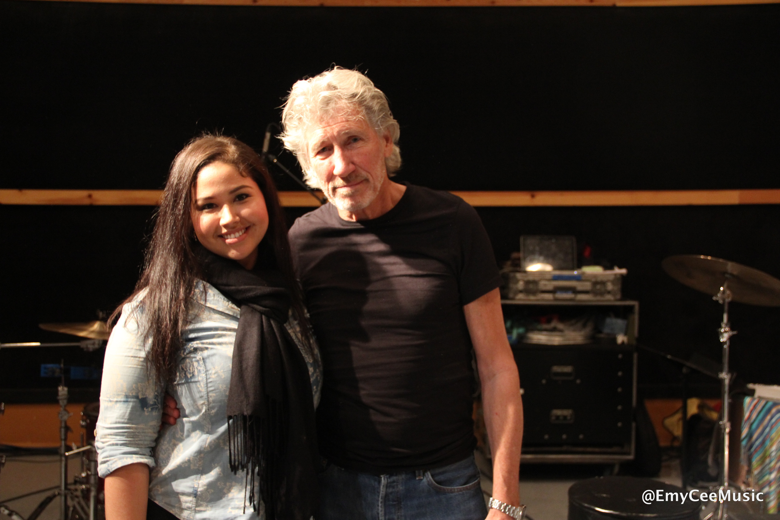 Emy Cee with Roger Waters
