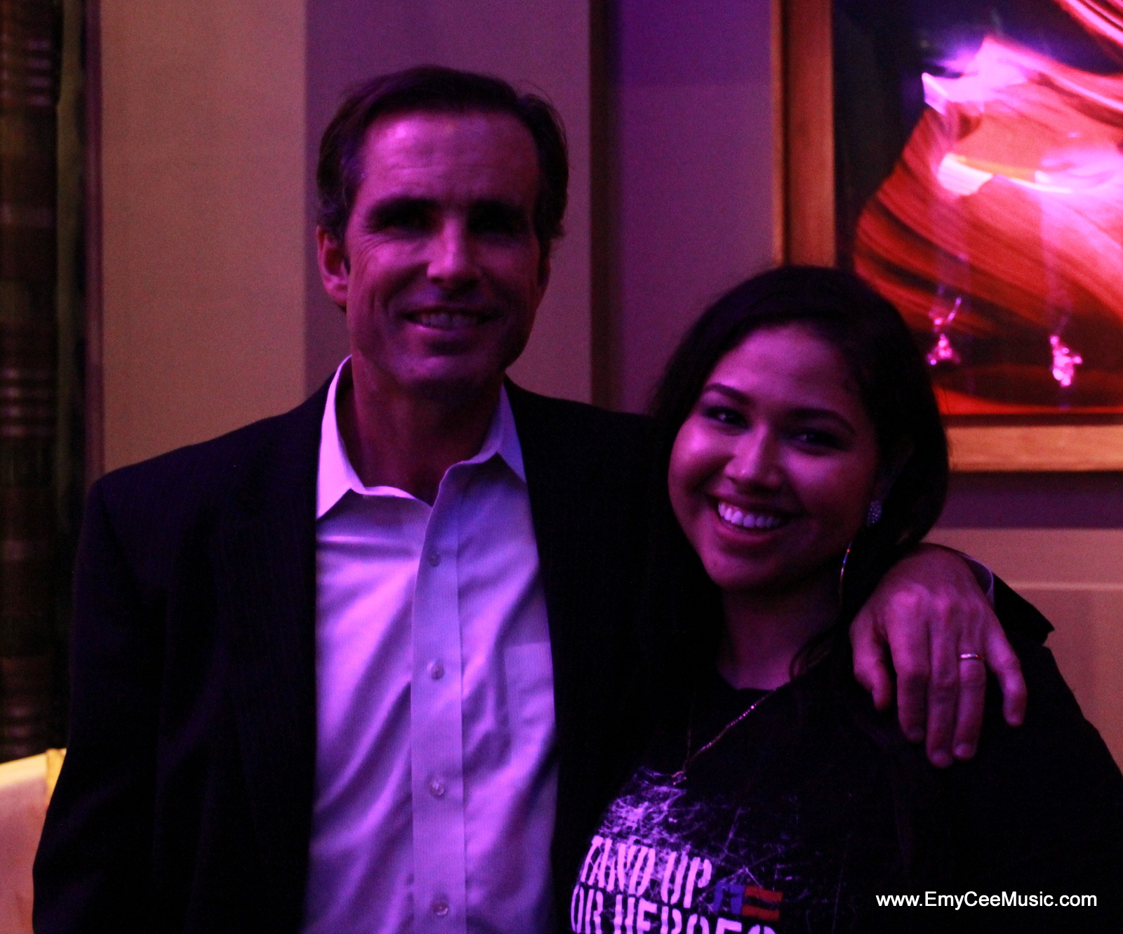 Emy Cee with Bob Woodruff