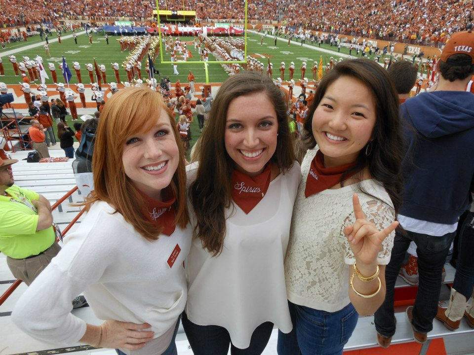 Me, Dana, and Jenny in college - cheering on the team that filled our hearts with disappointment yesterday.