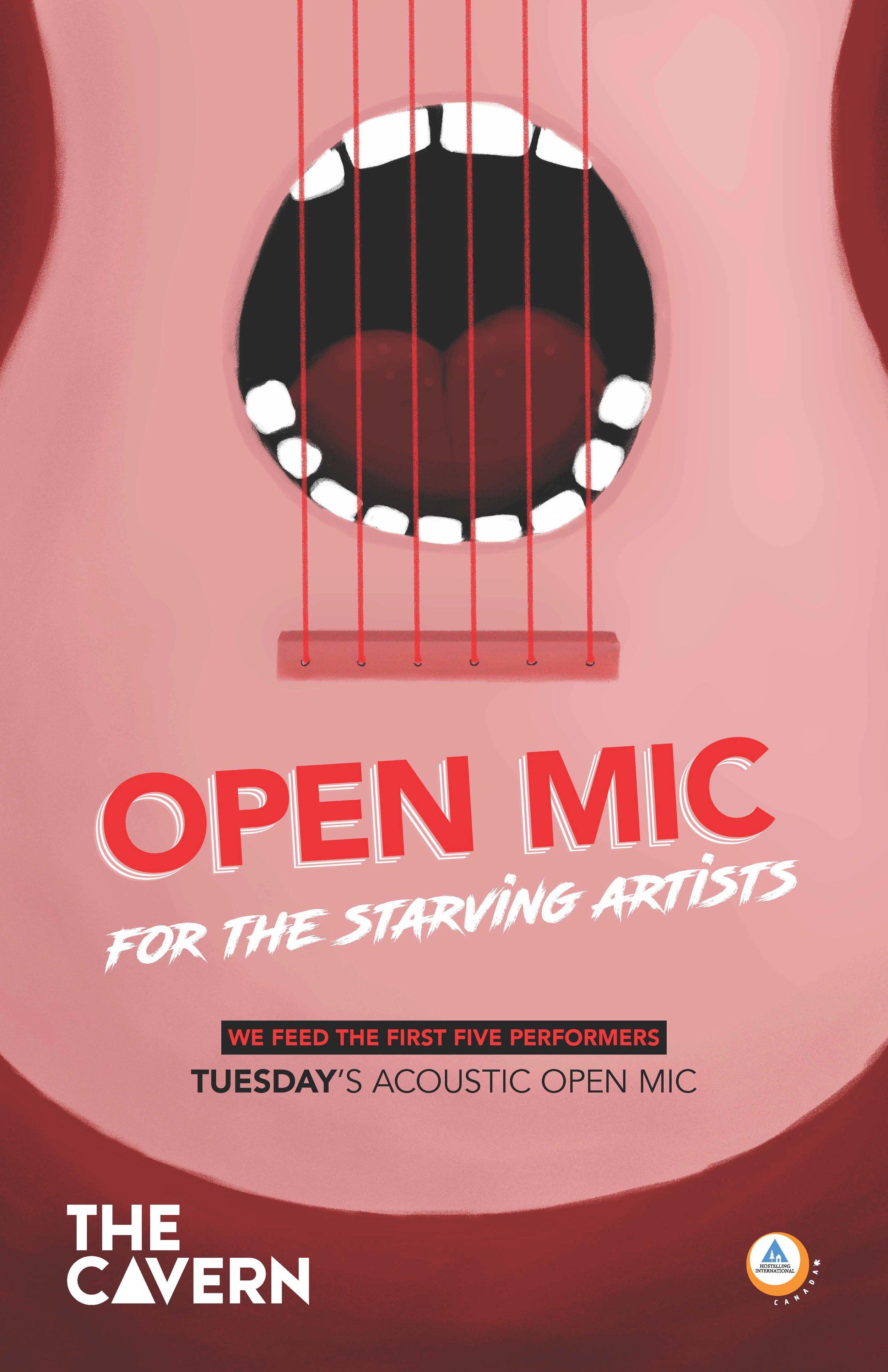 Acoustic Open Mic at The Cavern, HI-Toronto