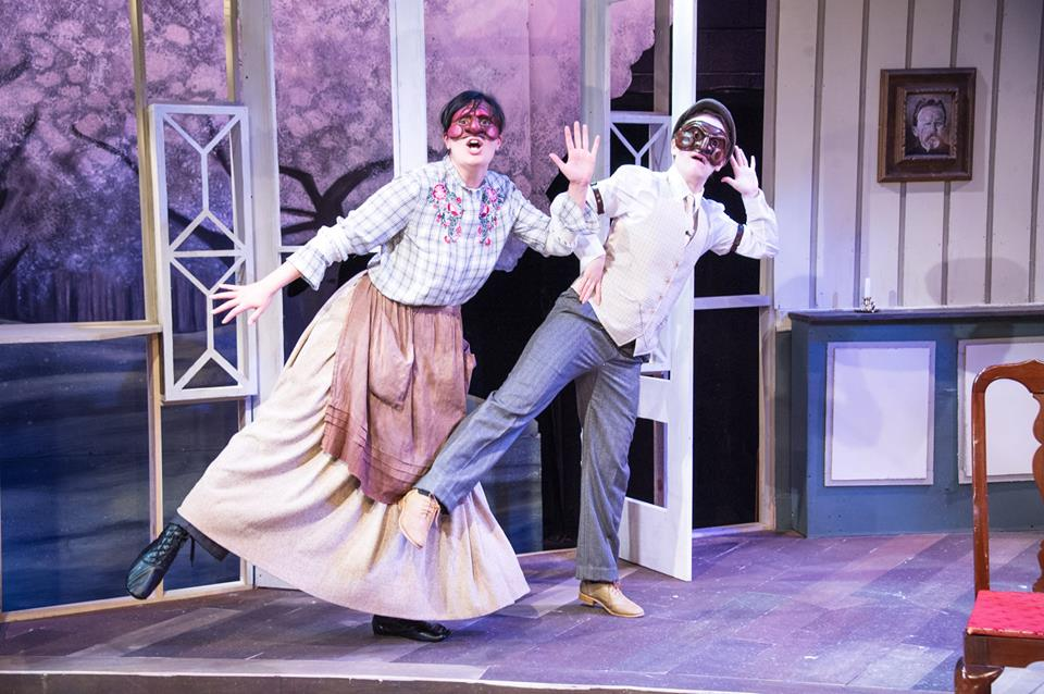 """Lopakhin in """"The Cherry Orchard"""" (pictured right)"""