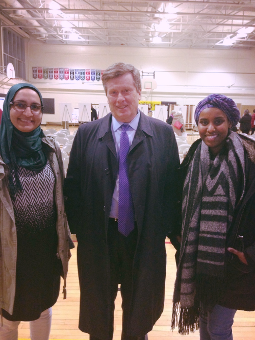 YourVoice team and Mayor John Tory