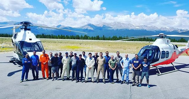 Thank you #airbus and #leonadohelicopters . We at #leadville #airport very much #enjoy having you here for your #highaltitude #testing 🇫🇷 🇺🇸 🇮🇹 #hope to see you again #soon #h160 #109 trekkers