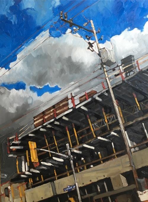 "Deconstruction Sight Westboro, Oil on Canvas, 48"" x 36"""