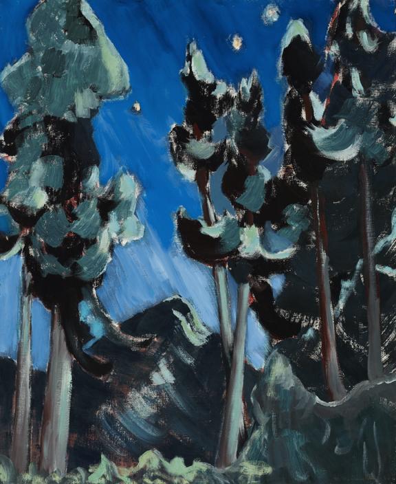 Alexandra Luke, Moonlight - Banff, 1945, oil on canvas. Gift of Mr. and Mrs. E. R. S. McLaughlin, 1971