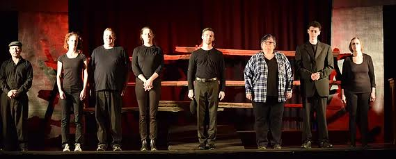 CAST PHOTO OF THE LARAMIE PROJECT COMPANY TAKEN BY SHAUNA COX