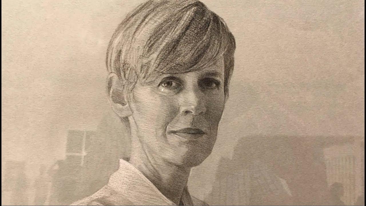 Portrait of Linda by Shaun Downey.