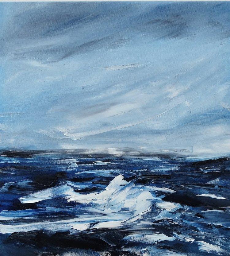 "Ontario, Winter (2016),  28 x 24"" Oil on Canvas"