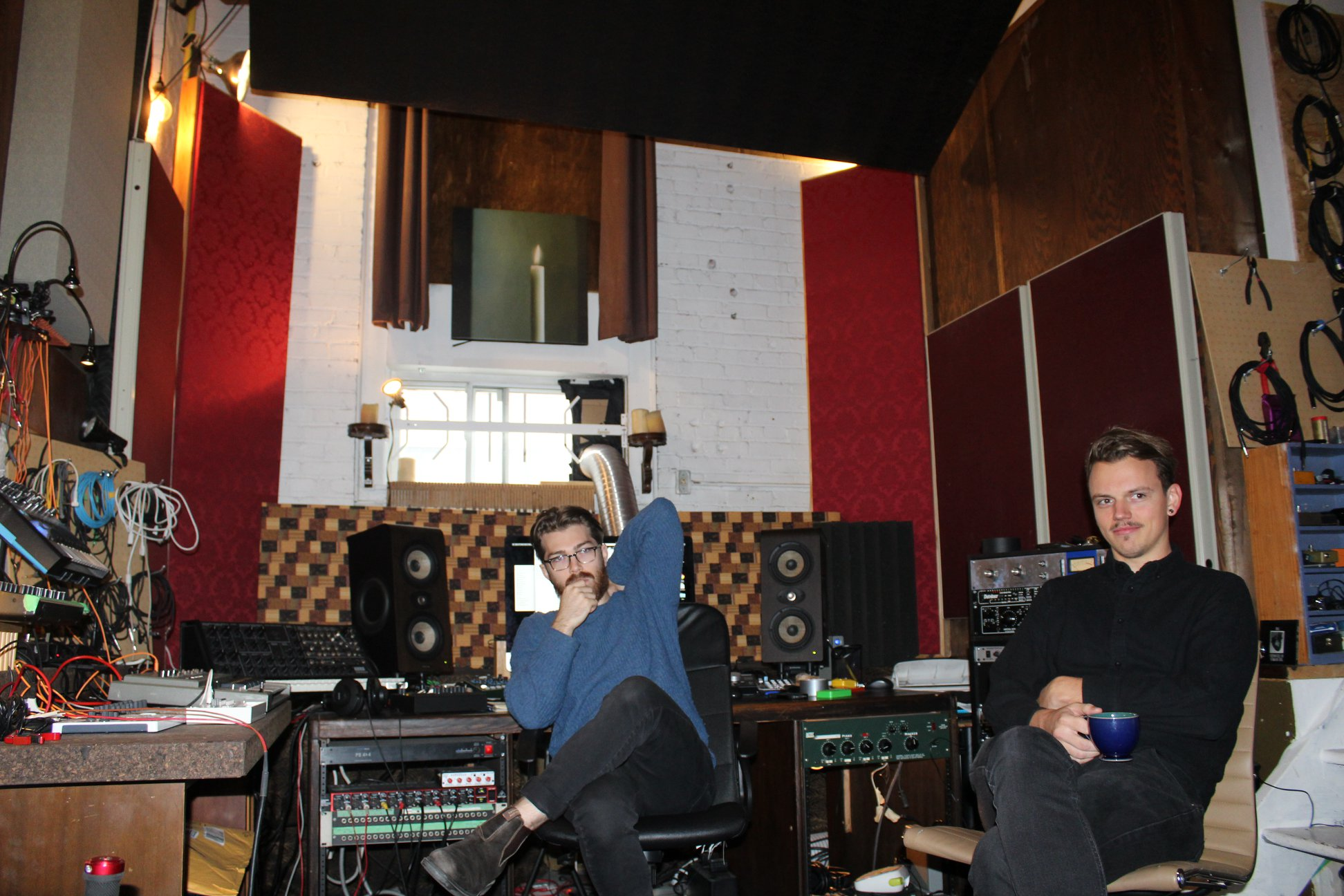 Mappe Of (right) with Connory Ballantyne at Candle Recording.