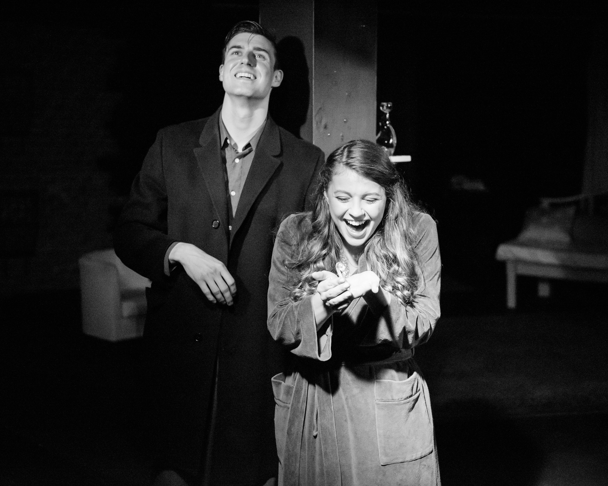 Jacob Klick as Tom and Claire MacMaster as Laura. Photo by John Ordean