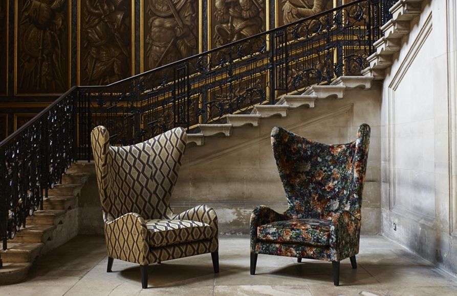 FEATURED - The Historical Palaces collection by GP & J Baker left: Cromwell, right: Royal Garden Velvet