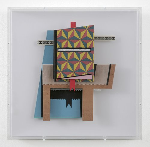 Cubist Book (Reincarnation) 2013  Mixed media construction with hand-made book