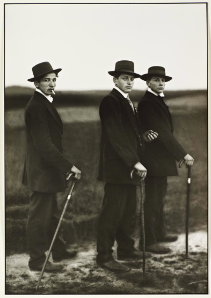Young Farmers of the Westerwald  by August Sander (1914)