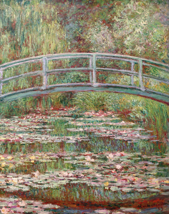 The Water Lily Pond   by Claude Monet