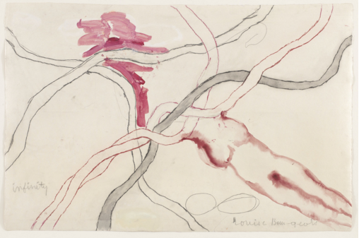 No. 5 of 14 from the installation set  À l'Infini (To Infinity), 2008. Soft ground etching, with selective wiping, watercolor, gouache, pencil, colored pencil, and watercolor wash additions. The Museum of Modern Art, New York