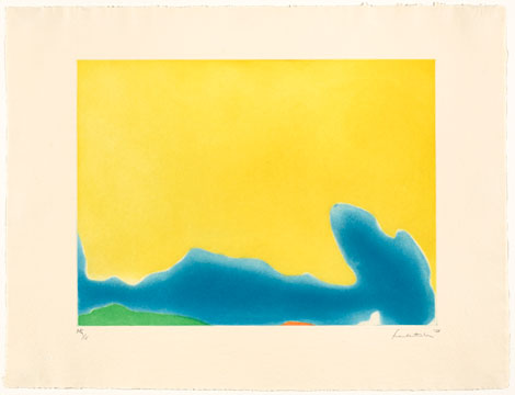 Yellow Span , 1968 by Helen Frankenthaler, printed by Donn H. Steward.