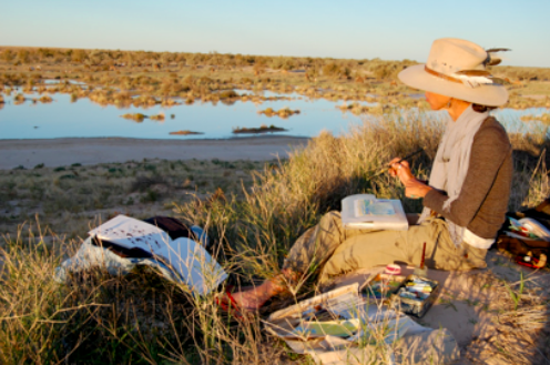 One of Australia's leading artists, Jo Bertini has been working on a ten year project with Australian Desert Expeditions in the most remote and inaccessible regions of Australia's deserts. Her preoccupation is how the land, or landscapes affect people.