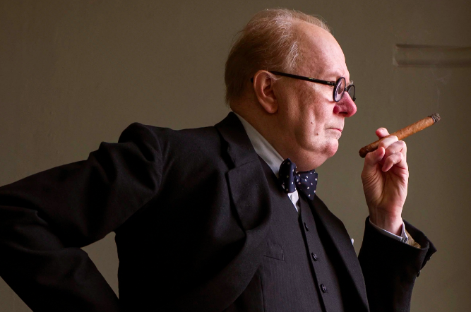 Gary Oldman as Churchill. Photographed by Jack English.