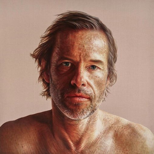 Archibald Prize 2018 ANZ People's Choice award winning portrait  Guy  by Anne Middleton © the artist.