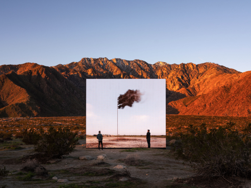 2019 · WESTERN FLAG (SPINDLETOP, TEXAS) 2017 AT DESERT X / COACHELLA VALLEY, CA, USA @ Lance Gerber