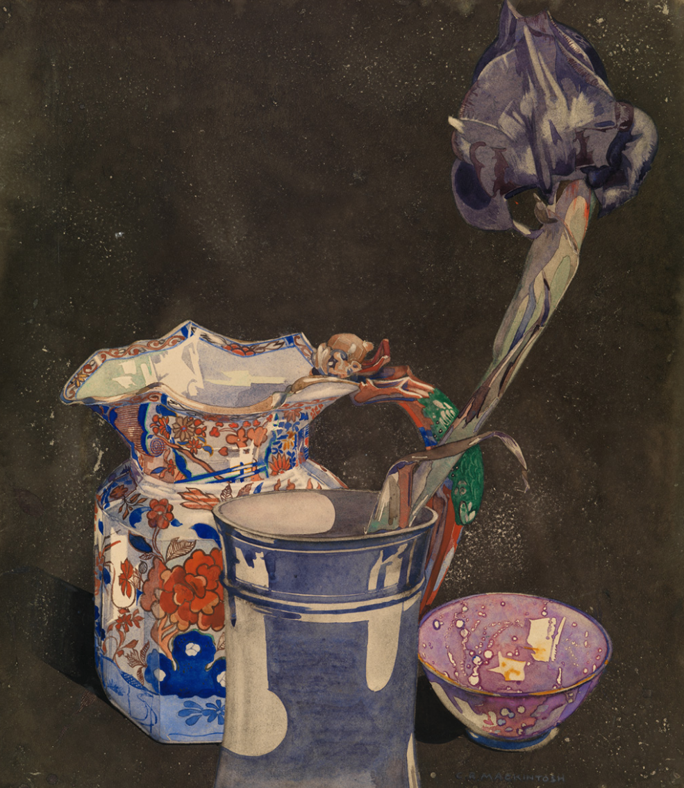 "Charles Rennie Mackintosh   , ""Grey Iris"" (c. 1923)"