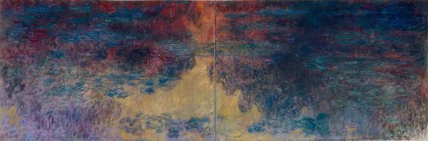 Les basins aux nympheas, le soir , by Claude Monet 1916-22