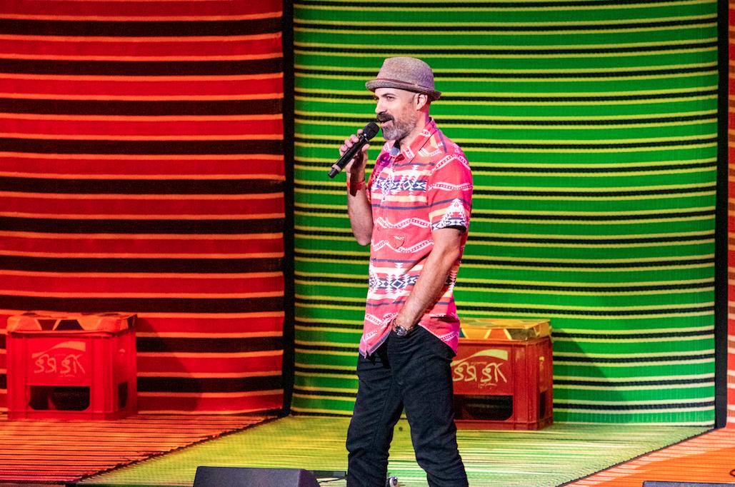 DJ Garth Trinidad introducing MYROCKSTARS