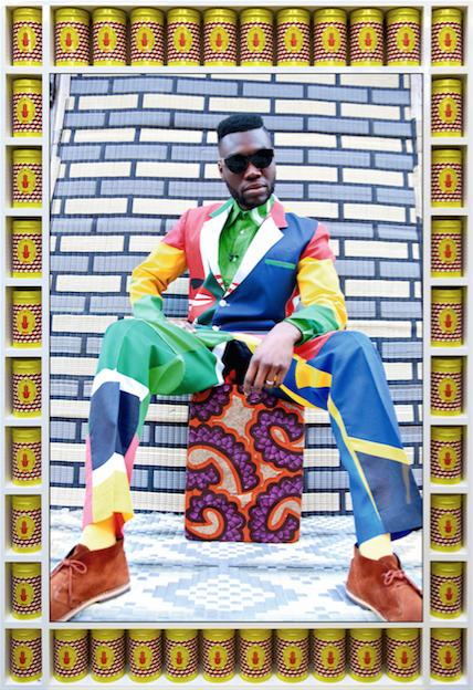 Afrikan Boy Sittin' by Hassan Hajjaj