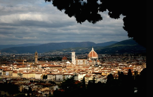 View of Florence, Italy. I made quite a few life long friends here <3