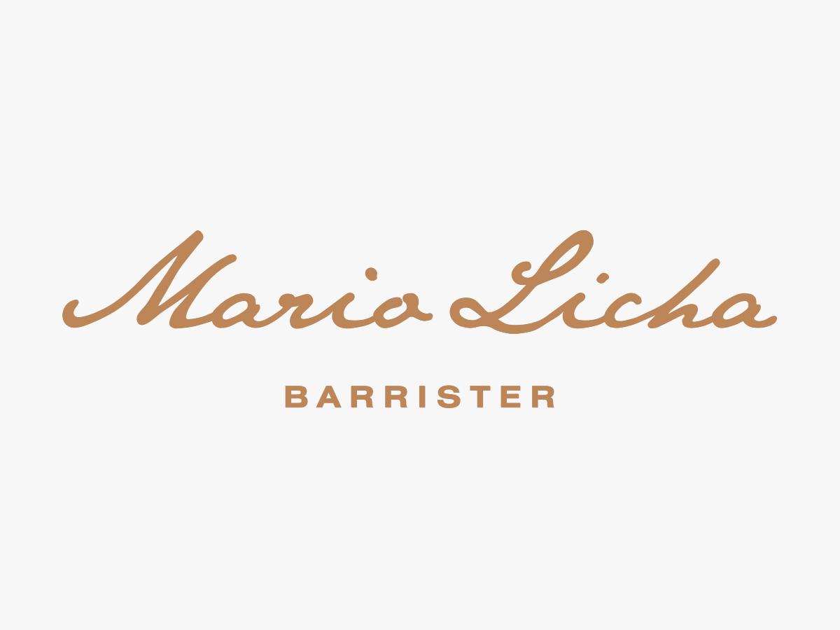 Logo design for Mario Licha Barrister