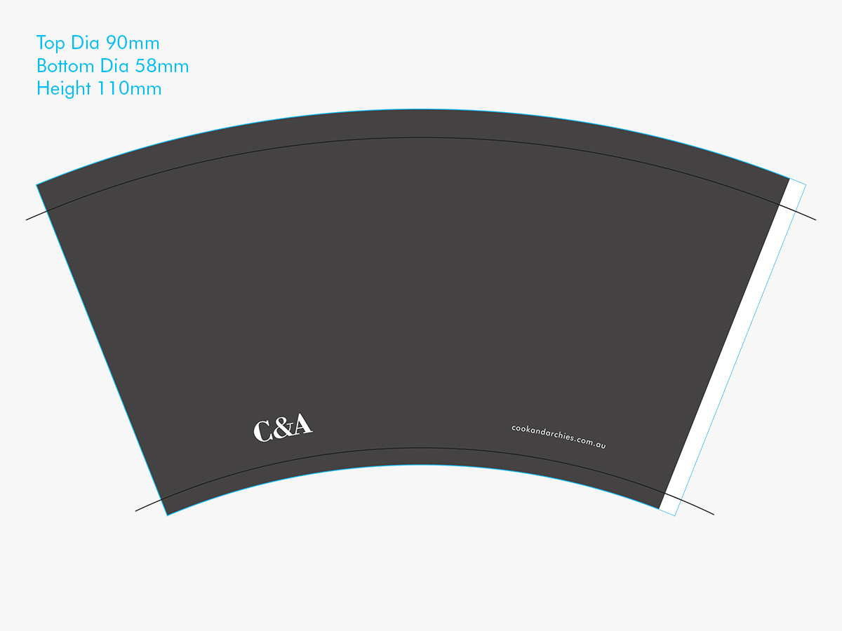 Design for 12oz paper cup