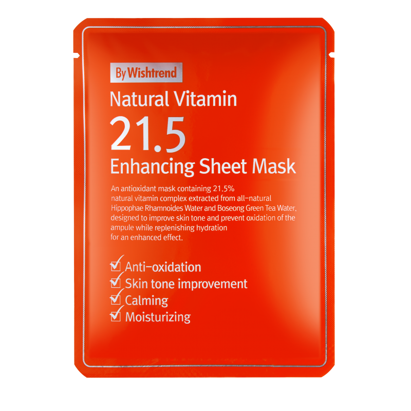 NATURAL VITAMIN 21.5 ENHANCING SHEET MASK KR. 49
