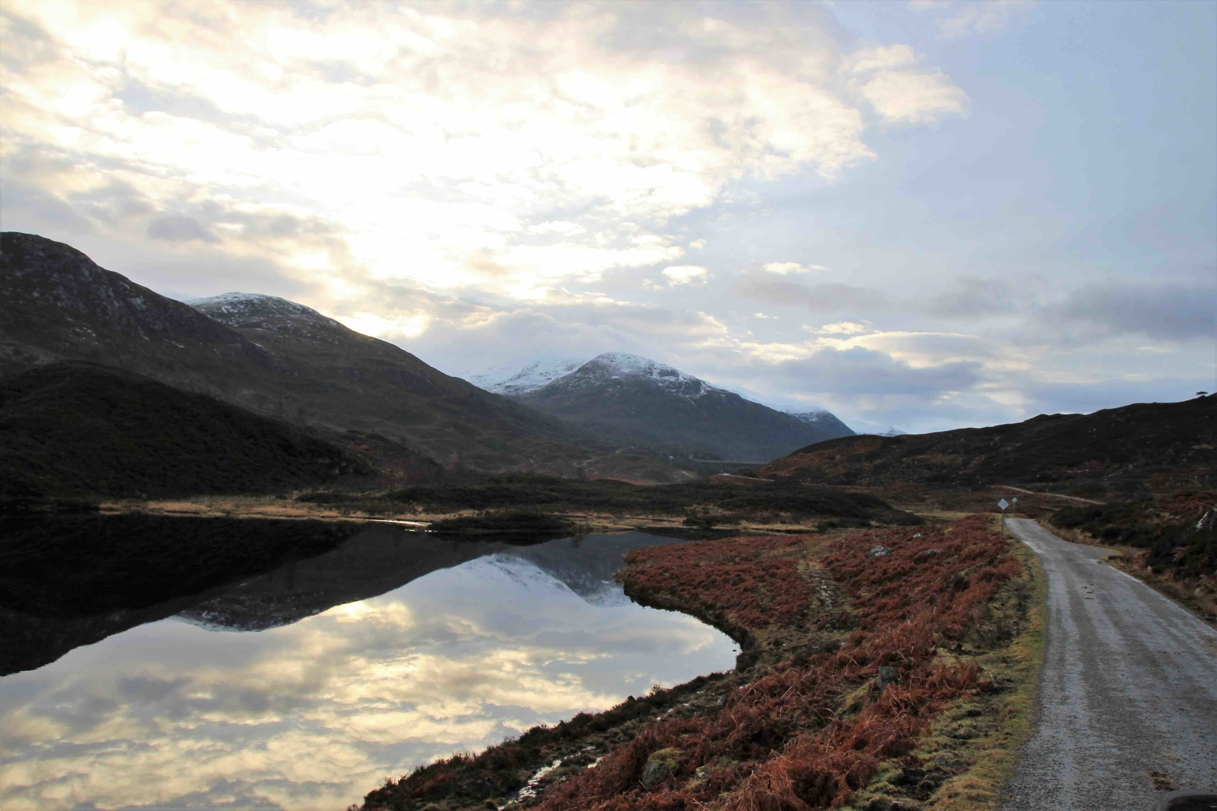 Road near Glen Cannich, Inverness area, Scottish Highlands