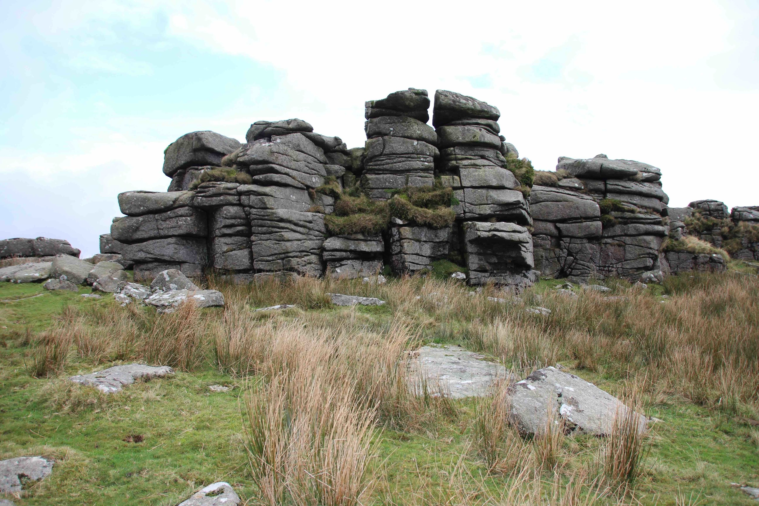 Ger Tor in Dartmoor, Devon, with the granite clitter in the foreground