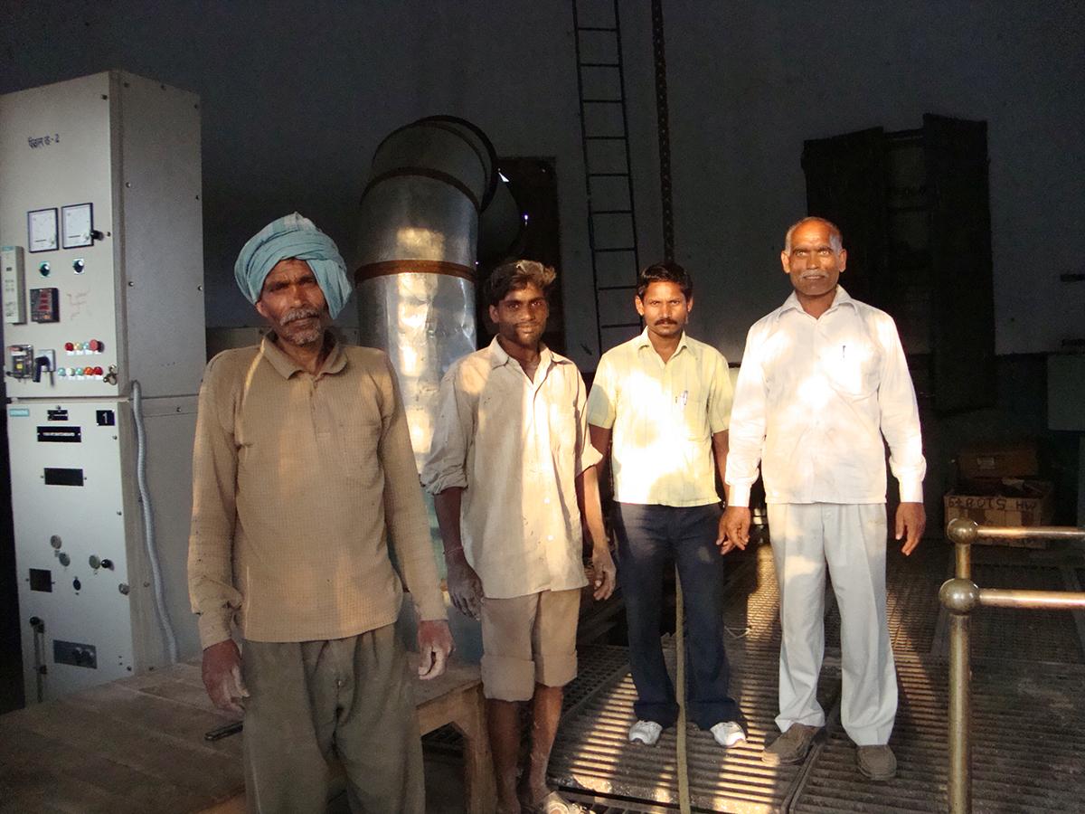 Water plant staff Varanasi.JPG