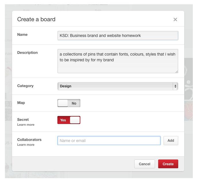 Using Pinterest for client homework
