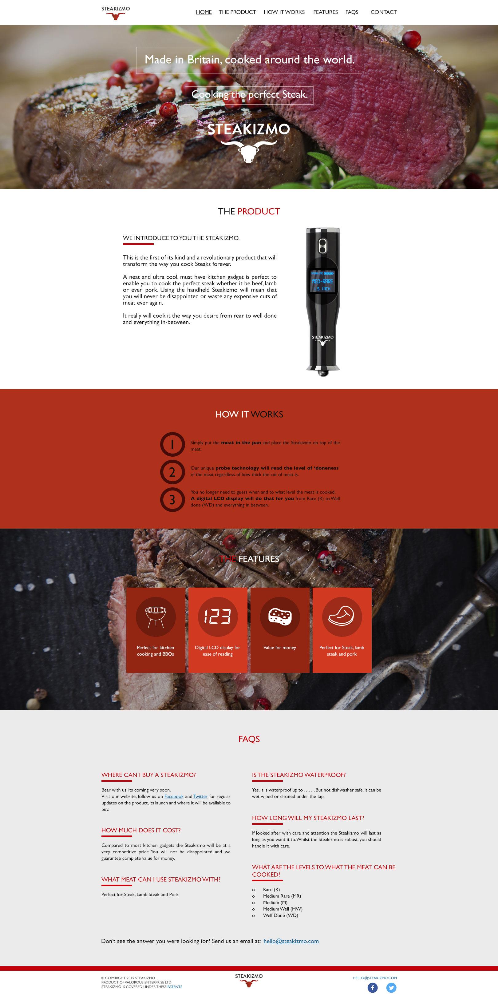 Steakizmo Website