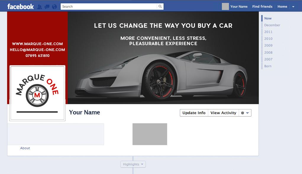 Marque One - Facebook graphics