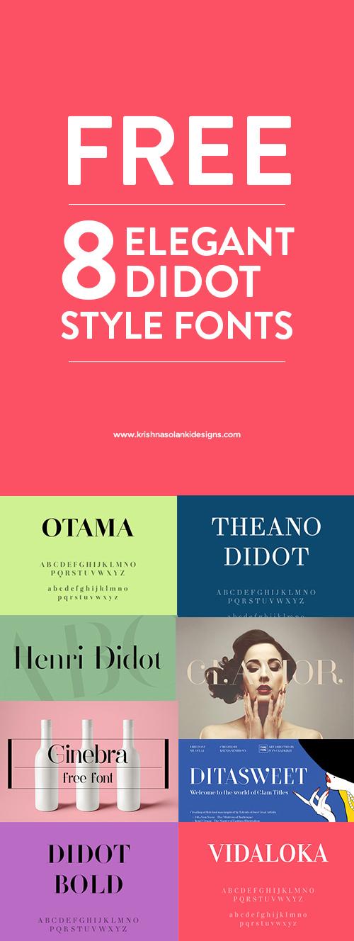 8 FREE Didot Style Fonts