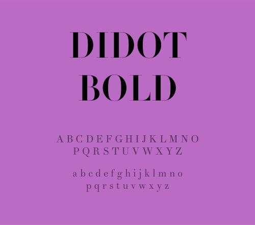 8 FREE Didot Style Fonts - Didot Bold