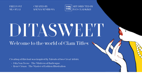 8 FREE Didot Style Fonts - Dita Sweet