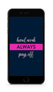 Krishna Solanki Designs - Hard work always pays off (free mobile wallpaper)