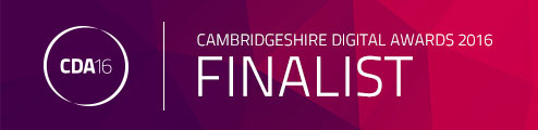 Cambridgeshire Digital Awards 2016 - Krishna Solanki Designs is a finalist!!