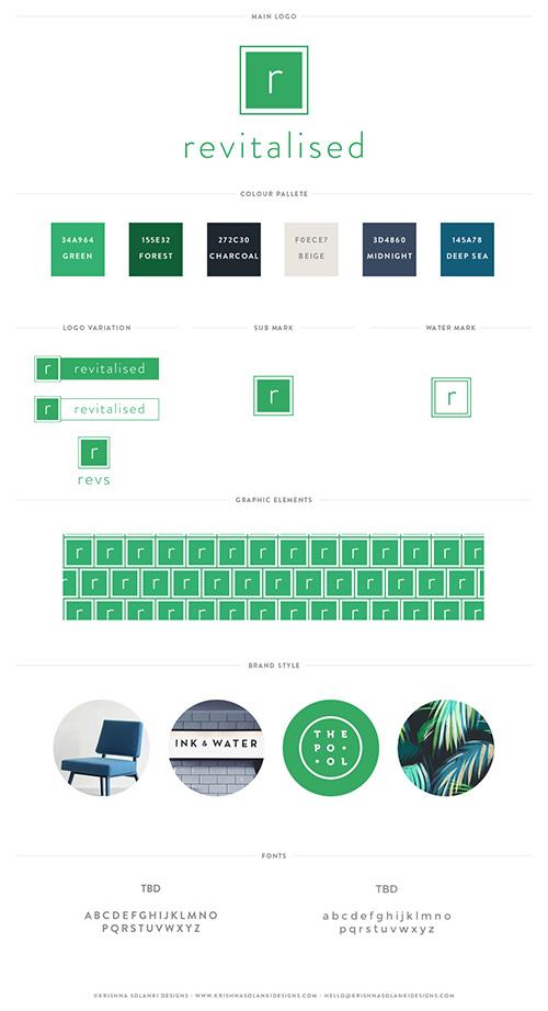 Krishna Solanki Designs - Revitalised - Brand Board