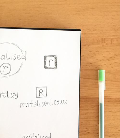 Krishna Solanki Designs - Revitalised Logo concept sketches