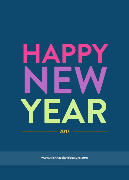 Krishna Solanki Designs - Happy New Year : 2017