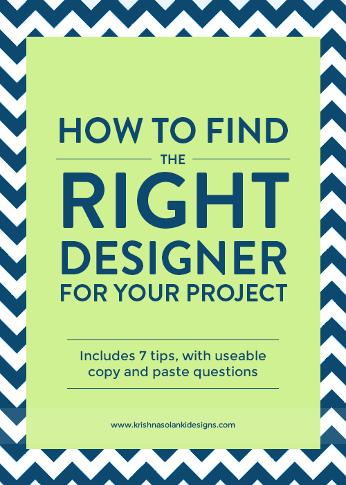 Krishna Solanki Designs - How To Find The Right Designer For Your Project