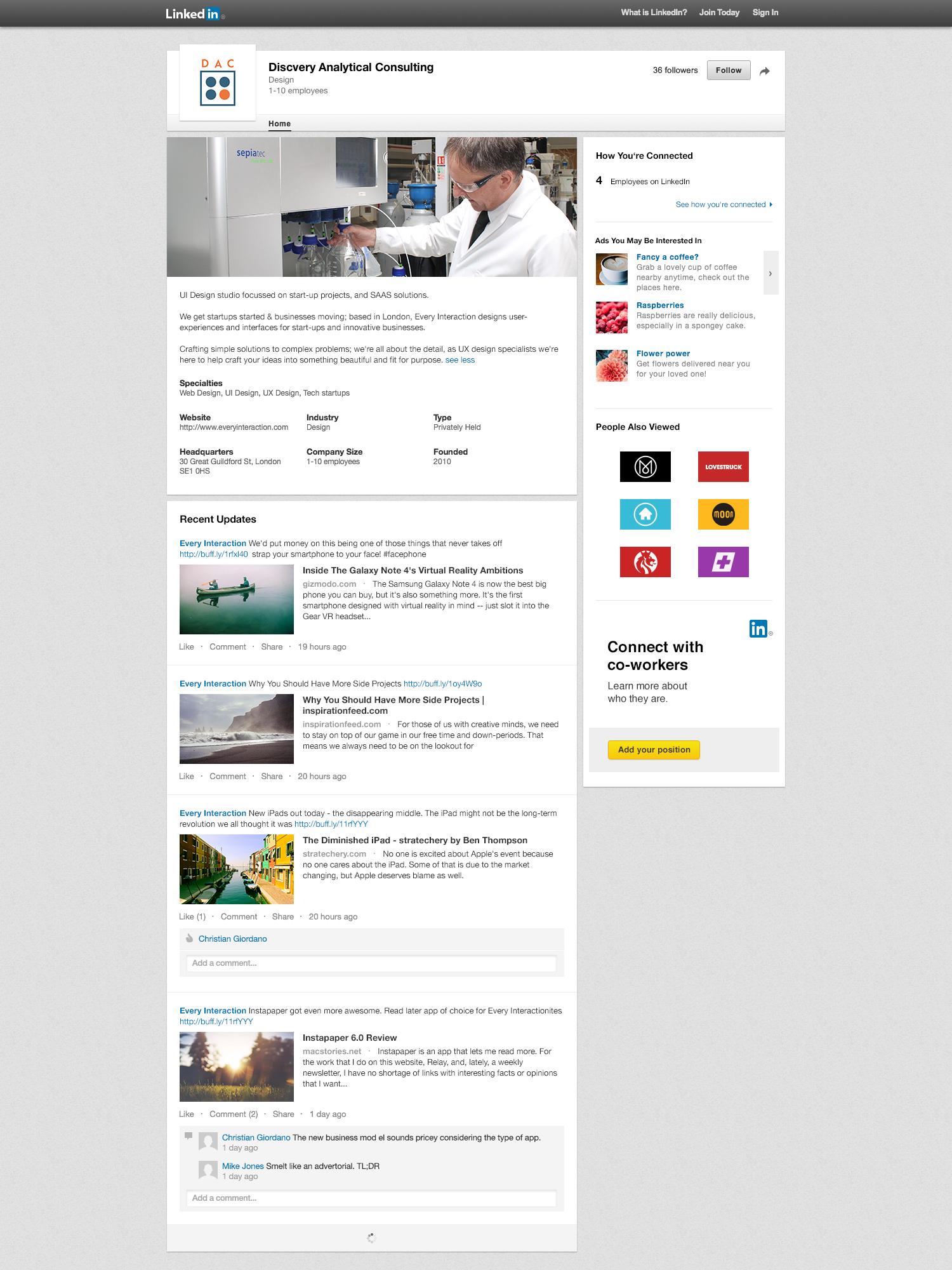 Krishna Solanki Designs  - Discovery Analytical Consulting Ltd - LinkedIn graphics